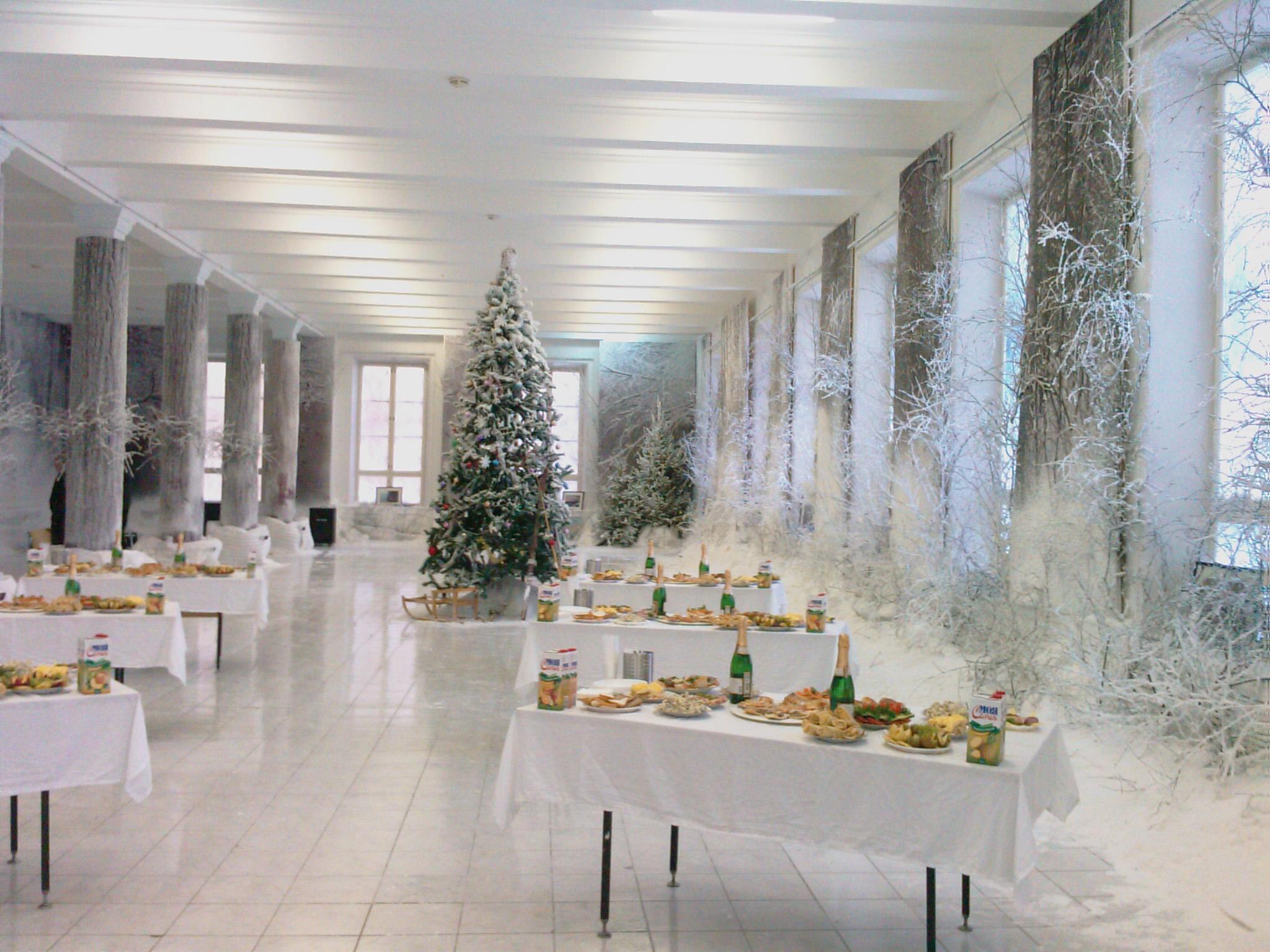 фото новогоднего фойе залов деталью